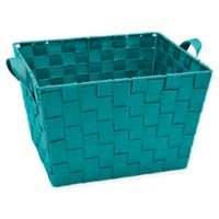 Simplify Small Woven Storage Bin in Sapphire