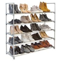 Simplify 5-Tier Stackable Shoe Rack in Grey