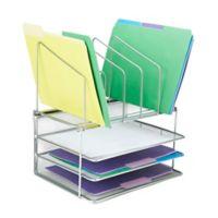 Mind Reader 3-Tier Desk Organizer in Silver