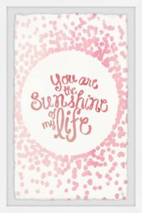 Marmont Hill Sunshine of My Life 16-Inch x 24-Inch Framed Wall Art
