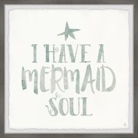Marmont Hill Mermaid Soul Square Paper Print Wall Art