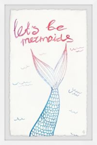 Marmont Hill Let's Be Mermaids III 8-Inch x 12-Inch Framed Wall Art