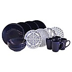 Baum Brothers 16-Piece Dinnerware Set in Blue/White