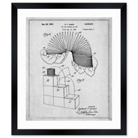 Oliver Gal™ Slinky 1947 Blueprint 26-Inch x 32-Inch Framed Wall Art