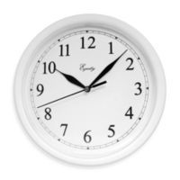 La Crosse Technology Equity White Scoop Analog Wall Clock