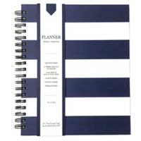 Striped Weekly Planner in Navy