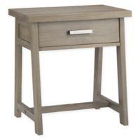 Simpli Home Sawhorse Wood Nightstand in Distressed Grey