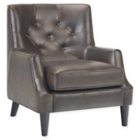 Simpli Home™ Upholstered Grange Chair in Distressed Brown