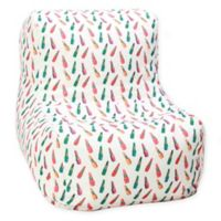 Wow Works™ Polyester Upholstered Retro Lipstick Bean Bag Chair