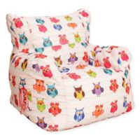 Wow Works™ Polyester Upholstered Owls Bean Bag Chair