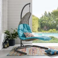 Modway Landscape Outdoor Arbor Swing Chair in Turquoise