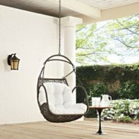 Modway Landscape Outdoor Arbor Swing Chair in White