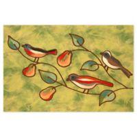 Liora Manne Song Birds 1'11 x 2'11 Indoor/Outdoor Accent Rug in Green