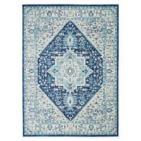 Nourison™ Tranquil 4' x 6' Area Rug in Ivory/Navy