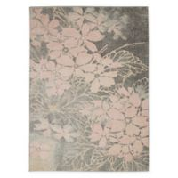 Nourison™ Tranquil Flowers 5'3 x 7'3 Area Rug in Grey/Pink