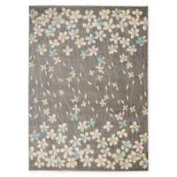 Nourison Tranquil Floral 4' x 6' Area Rug in Grey/Beige