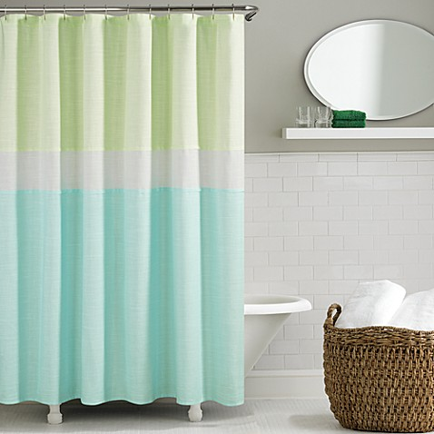 Kate Spade Spring Street Shower Curtain In Aqua Bed Bath Beyond