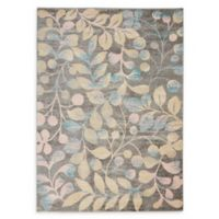 Nourison™ Tranquil Leaves 5'3 x 7'3 Area Rug in Grey/Beige