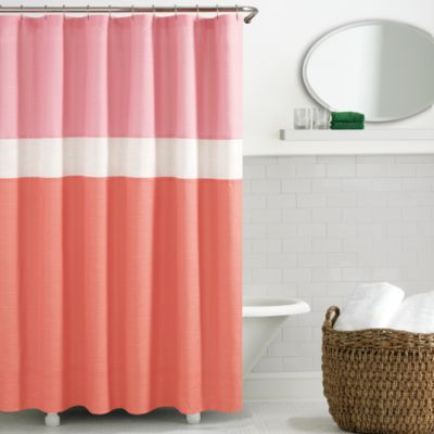 kate spade Spring Street Shower Curtain in Coral Bed Bath Beyond