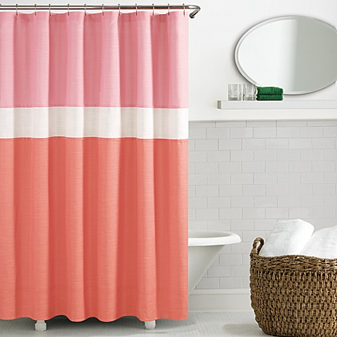 Kate spade spring street shower curtain in coral bed for Bed bath and beyond kate spade