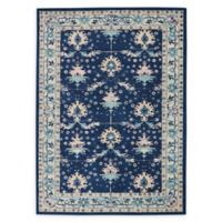 Nourison Tranquil Geometric 6' x 9' Area Rug in Navy/Ivory