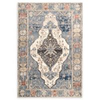nuLOOM Adrian Medallion 9' x 12' Area Rug in Blue