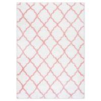 nuLOOM Trellis 7'10 x 7'10 Shag Area Rug in Baby Pink