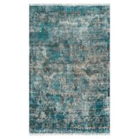 nuLOOM Abstract Fringe 7'6 x 9'6 Multicolor Hand Loomed Area Rug