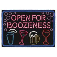 Liora Manne Boozeness 1'8 x 2'6 Indoor/Outdoor Handcrafted Accent Rug in Black