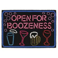 "Liora Manne Boozeness 1'8"" x 2'6"" Indoor/Outdoor Accent Rug in Black"