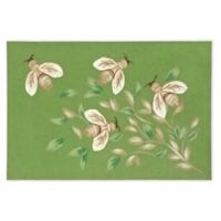 Liora Manne Bees 1'11 x 2'11 Indoor/Outdoor Accent Rug in Green