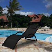 Relax-A-Lounger™ Lakeshore Chaise Lounge in Black