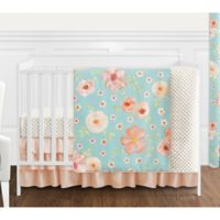 Sweet Jojo Designs Watercolor Floral 4-Piece Crib Bedding Set