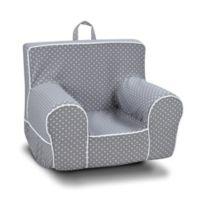 Kangaroo Trading Company Classic Mini Dot Grab-n-Go Kid's Rocker Foam Chair in Grey/Whte