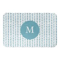 "Designs Direct Petals 21"" x 34"" Bath Mat in Blue"