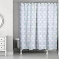 Tiled Shower Curtain in Blue