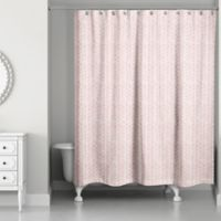 Designs Direct Watercolor Floral Shower Curtain in Pink
