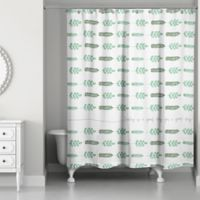 Designs Direct Good Day Ferns Shower Curtain in Green