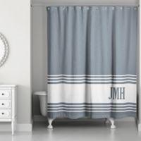 Designs Direct Slate Stripes Shower Curtain