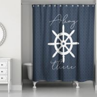 Designs Direct Ahoy There Shower Curtain in Blue