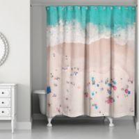 "Designs Direct ""Beach Bird's Eye"" Multicolor Shower Curtain"