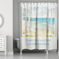 Designs Direct There's No Place 71-Inch x 74-Inch Shower Curtain in White
