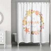 Designs Direct Beach Wreath Shower Curtain