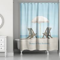 Designs Direct Beach Chair Shower Curtain