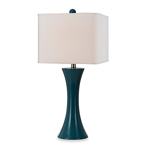 angelo:HOME Ceramic Table Lamp in Blue