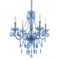 AF Lighting Naples Chrome Mini-Chandelier in Blue