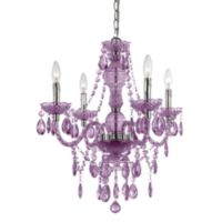 AF Lighting Naples Chrome Mini-Chandelier in Purple
