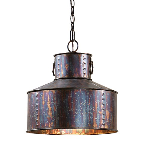 image of Uttermost 1-light Oxidized Bronze Pendant Lamp