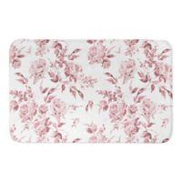 Designs Direct 21-Inch x 34-Inch Floral Bath Mat in Blush