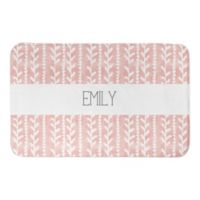 Designs Direct 21-Inch x 34-Inch Watercolor Floral Bath Mat in Blush